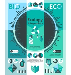 Ecology Infographics Set vector