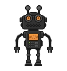 Fiction Robot on White Background vector image