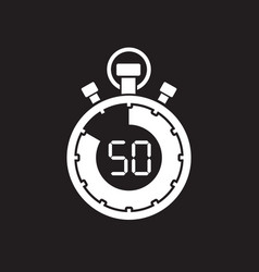 fifty minute stop watch countdown vector image