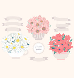 Flower bouquet for decoration vector
