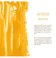 golden hand paint ink texture background vector image