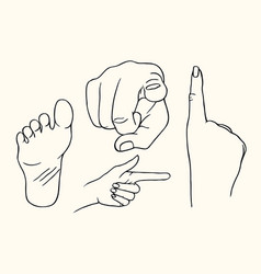 Hand showing a fig sign vector