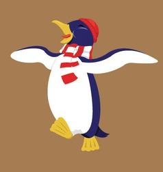Happy penguin vector