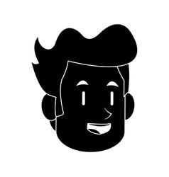 Happy smiling man icon image vector