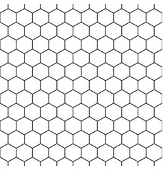 hexagon seamless pattern background vector image
