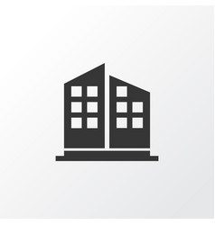 high rise buildings icon symbol premium quality vector image