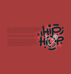 Hip hop design with a microphone and graffiti vector