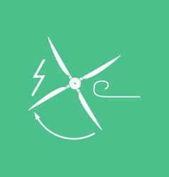 Icon wind turbine vector