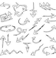 Image a set different outlines arrows vector