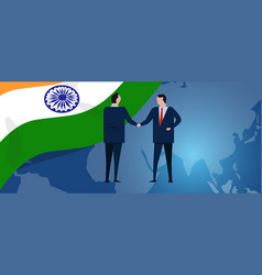 india international partnership diplomacy vector image