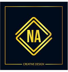 Initial letter na logo template design vector