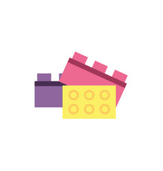 Isolated lego toy design vector