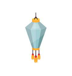 light blue chinese paper lantern decorative vector image