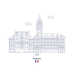 lille city skyline vector image