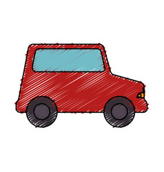 Little car toy icon vector
