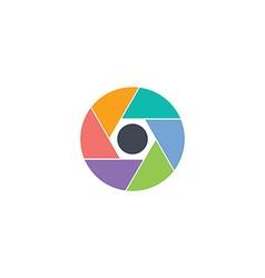 Media lens logotype vector