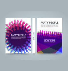 Modern colorful vertical music party banners vector