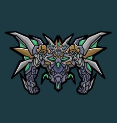 monster robot gundam sport logo vector image