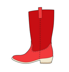 my red boots vector image