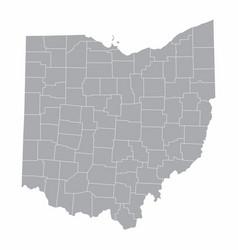 Ohio counties map vector
