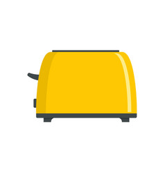 Old toaster icon flat style vector