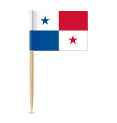 panama flag flag toothpick 10eps vector image vector image