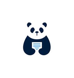panda paper logo icon vector image