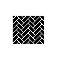 parquet black icon sign on isolated vector image