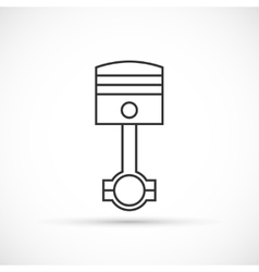 Piston engine outline icon vector image