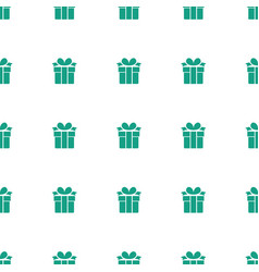 present icon pattern seamless white background vector image