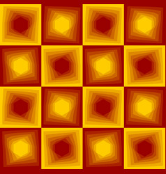 red and yellow abstract background checker vector image