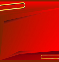 Red background with gold line for text vector