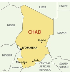 Republic of Chad - map vector image