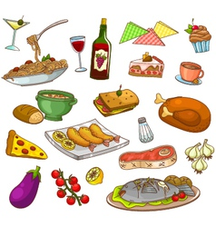 restaurant food vector image