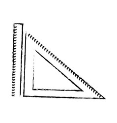 Ruler and triangle ruler geometry measuring vector