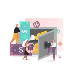 Safe deposit box concept for web banner vector