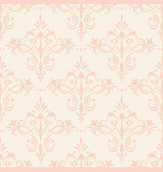 seamless flourish pattern vector image