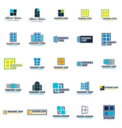Set of logo windows store installer company vector