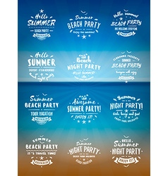Set of Summer Holidays Design Elements Beach Party vector image