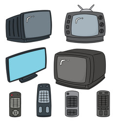 set of television vector image