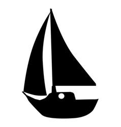 Silhouette yacht vector