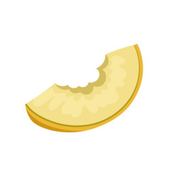 slice of juicy bitten melon sweet and healthy vector image