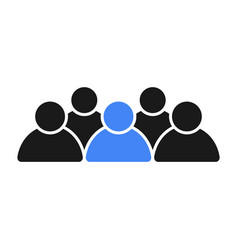 Social group of people leader in the team vector