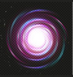 spiral purple magic galaxy background bright vector image