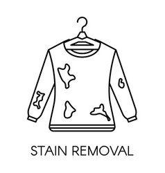 Stain removal service dirty sweater with mud on vector