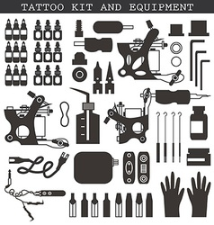 Tattoo kit and equipment vector