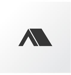 tent icon symbol premium quality isolated tepee vector image
