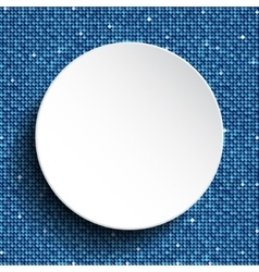 White circle with blue sequins background vector