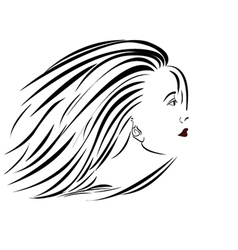 Woman-portrait-sideview vector