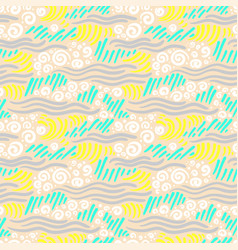 abstract seamless pattern artistic drawing vector image vector image